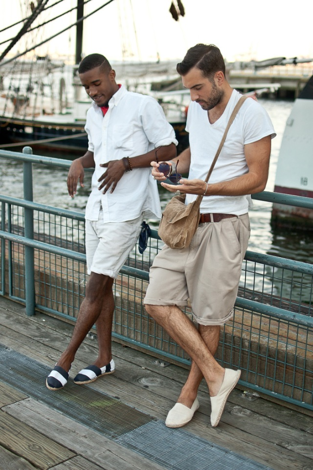Men in espadrilles